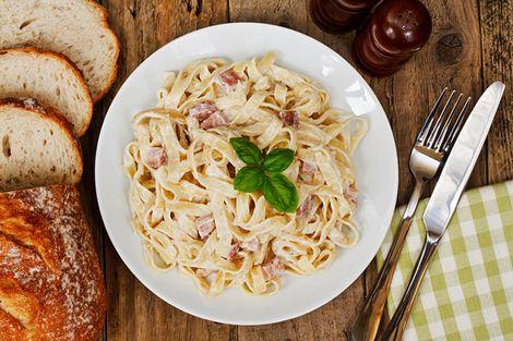 Pasta carbonara gezond recept